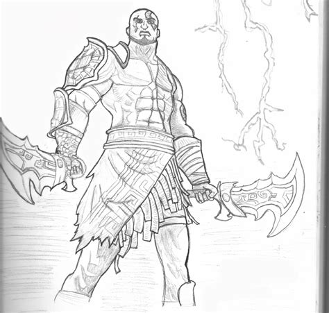 Kratos God Of War By Sh3iik