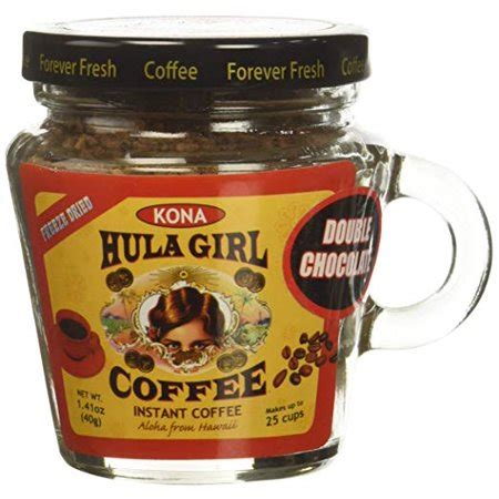Its voice hasn't gone unheard, and now walmart has decided to join the quality instant coffee trend by adding waka coffee to its select coffee assortment line. Hula Girl Kona Blend Freeze Dried Instant Coffee Double Chocolate Small Jar, 40 Gram - Walmart.com