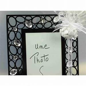 Cadre Photo Mariage : cadre photo noir de mariage dragees ~ Teatrodelosmanantiales.com Idées de Décoration