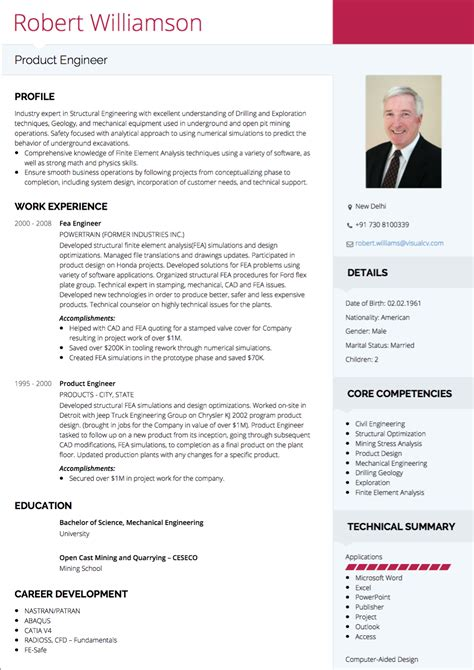 Idee De Cv by Cv Tips Requirements Exles Visualcv