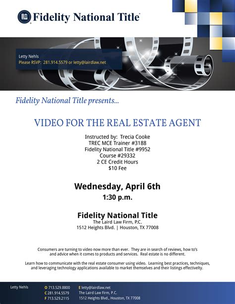 Video for the Real Estate Agent – The Laird Law Firm