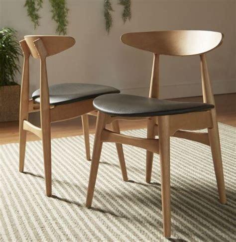 pc norwegian danish side chairs dining mid century