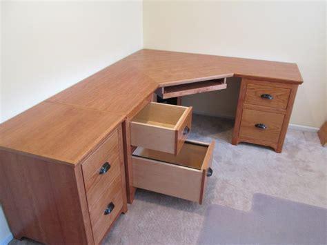 diy corner desk with file cabinets styles modern craftsman corner desk mobile file