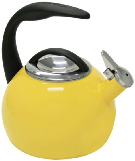 kettle tea whistling yellow kettles induction bright fun