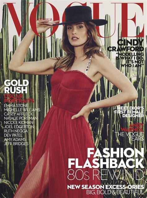 Cindy Crawford - Vogue Australia March 2017 Issue • CelebMafia