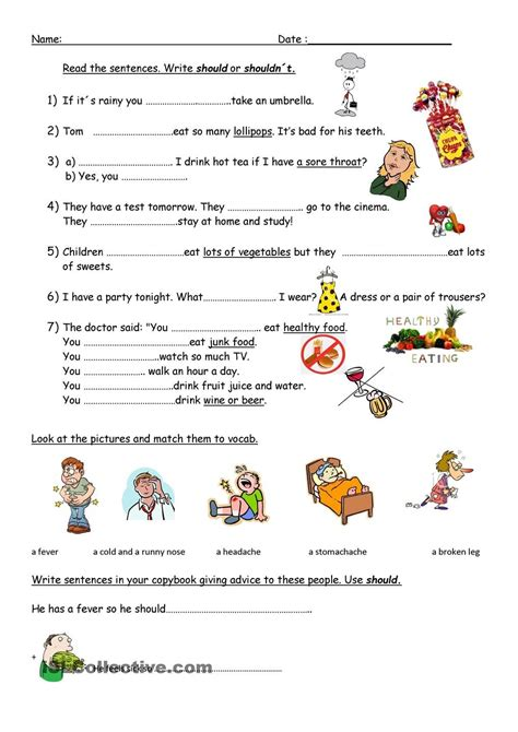 giving advice  images worksheets writing skills
