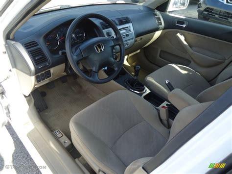 2003 honda civic interior beige interior 2003 honda civic hybrid sedan photo