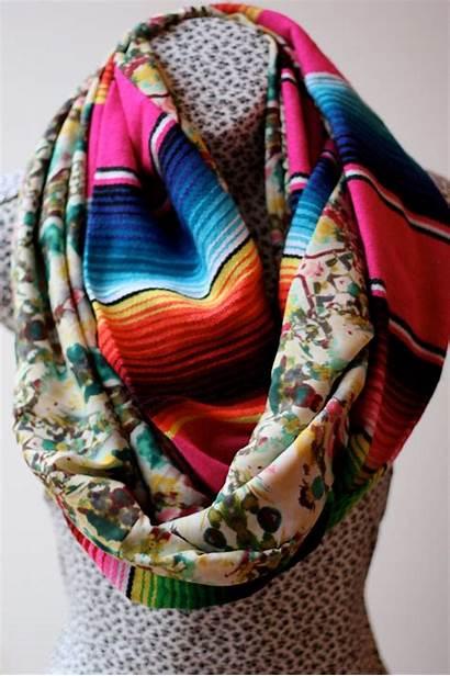 Scarf Serape Mexican Circle Woven Ikat Infinity