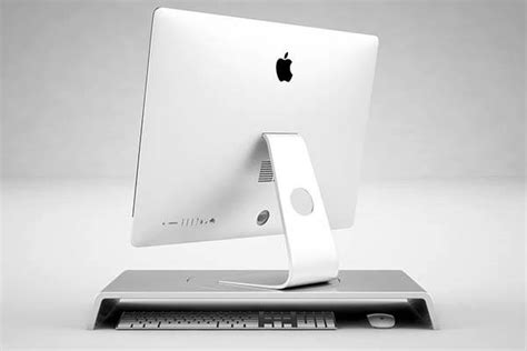 simple desk imac stand lets  easily rotate