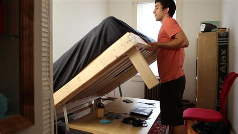 desk transforms into bed build a desk that turns into a double bed for 350