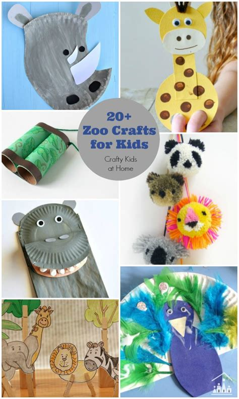 20 zoo crafts for crafty at home 252 | Zoo Crafts for Kids 600