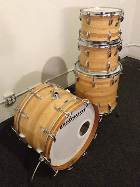 Ludwig 3ply 1976 Butcher Block Reverb