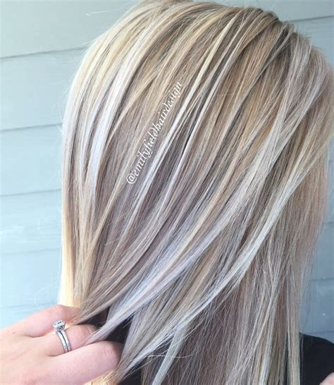 Shiny Hair Color by Cool Dimensional Honey And Platinum White