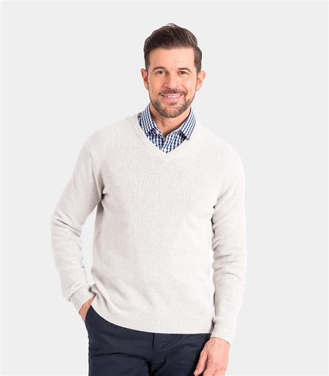 mens v neck sweater white grey lambswool mens lambswool v neck knitted
