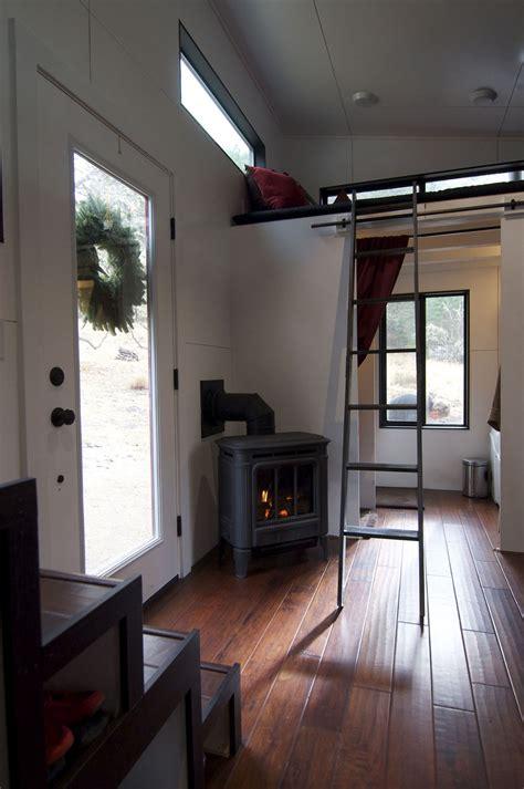 elegant minimalist tiny house  wheels  staircase idesignarch interior design