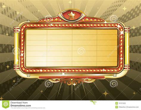 Movie Theater Billboard marque sign stock vector illustration  nightclub frame 1300 x 1014 · jpeg