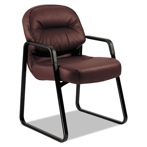 2090 Pillowsoft Series Leather Guest Arm Chair By Hon