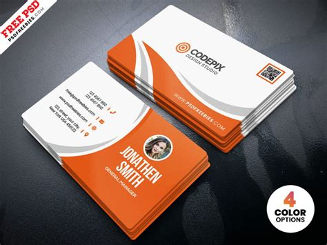 simple business card design  psd psdfreebiescom