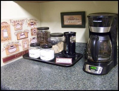 organizing the kitchen coffee station crafts for the home coffee 1276