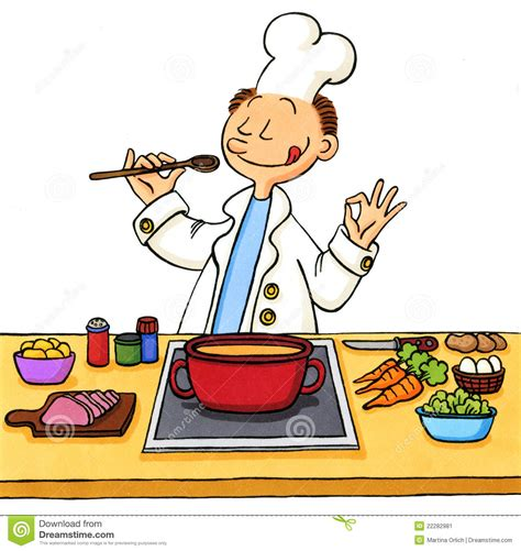comis cuisine of a cook in the kitchen stock image image 22282981