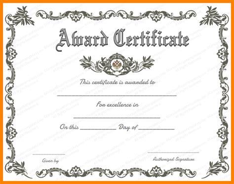 award certificate template word award certificate template free template business
