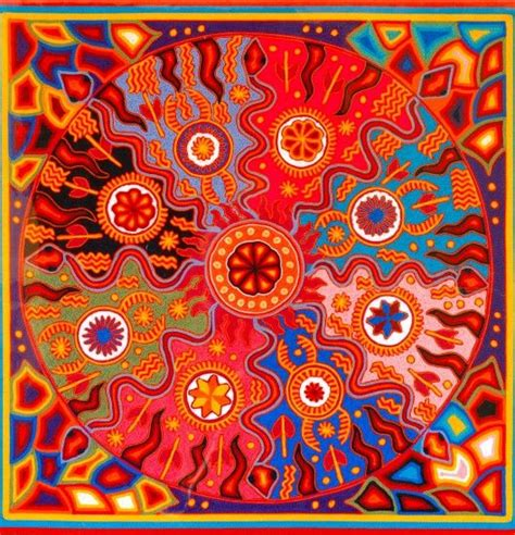 huichol art mexico images  pinterest