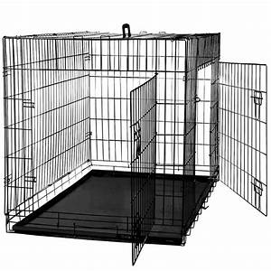 48quot dog cage crate suitcase folding kennel pet puppy With dog crate and pen