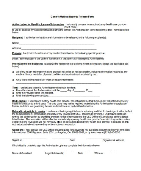medical records release form template medical release form template charlotte clergy coalition