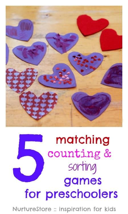 counting sorting and matching for preschoolers 716 | matching sorting games for preschoolers
