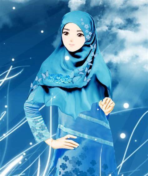kumpulan gambar kartun muslimah yang cantik share the