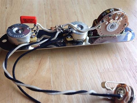 Telecaster Wiring Diagram Emerson by Fender Telecaster Wiring Harness Treble Bleed 250k Cts