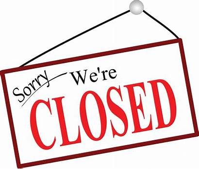 Closed Sorry Sign Clipart Were Re