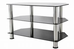Table Pour Tv : meuble tv en verre meuble salon tv maisonjoffrois ~ Teatrodelosmanantiales.com Idées de Décoration