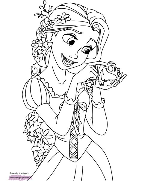 disneys tangled coloring pages disneyclipscom