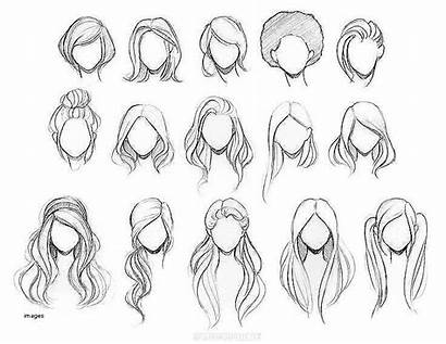 Hairstyles Drawing Drawings Paintingvalley