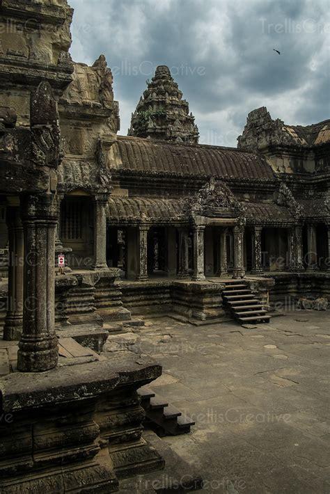Image: Old temple at Angkor Wat, Cambodia under dramatic ...