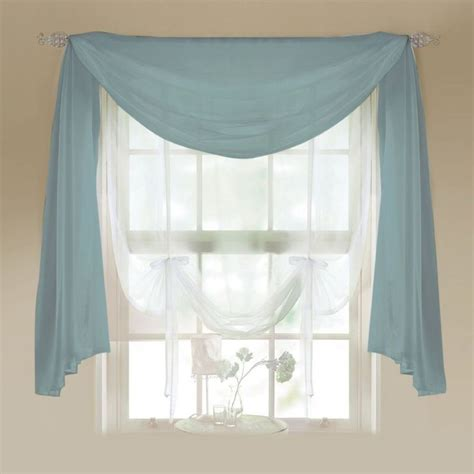 17 best ideas about scarf valance on curtain