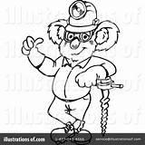 Coal Coloring Miner Template Koala Clipart sketch template