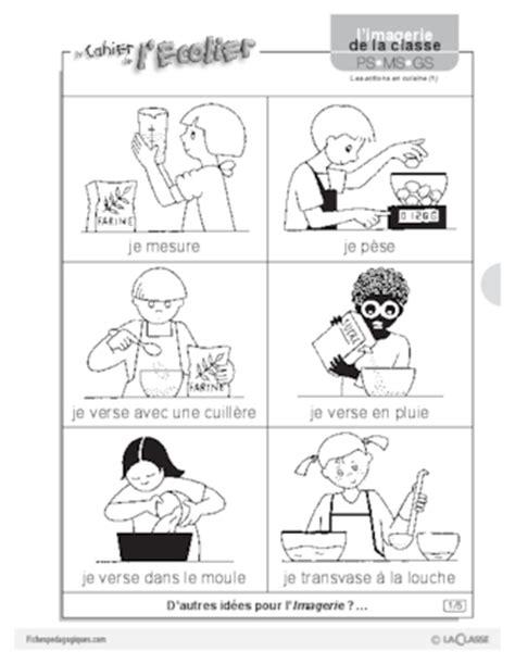 les ecoles de cuisine en imagerie les actions en cuisine 1 fichespédagogiques com