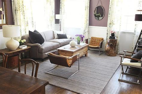 Emily Hendersons Living Room by Purple Wall Paint Eclectic Living Room Benjamin