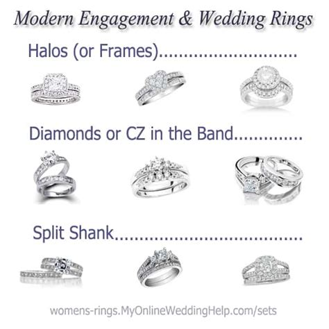 modern engagement and wedding rings my wedding help wedding planning tips tools to