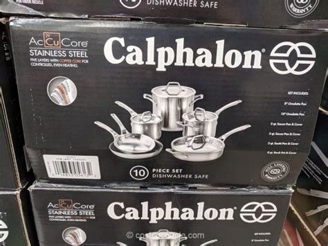 calphalon  piece accucore stainless steel cookware