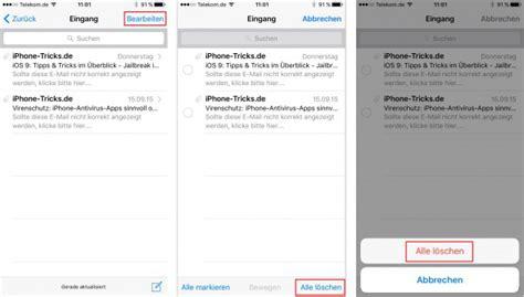 iOS 1011111 iPhone alle Mails löschen  mit 1 Klick