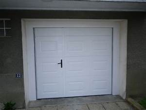 porte de garage sectionnelle avec porte de service pvc With porte de garage sectionnelle avec porte blindée vitrée