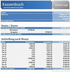 Einnahmen Ausgaben Rechnung Verein : excel kassenbuch zum download excelnova ~ Themetempest.com Abrechnung