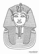 Tut King Mask Coloring Tutankhamun Pages Egyptian Egypt Printable Ancient Colouring Colour Pharaoh Crafts Printables Adults Printcolorfun Fun Chapter History sketch template
