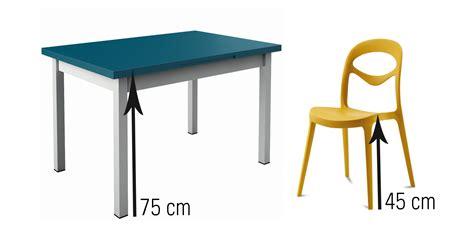 chaise table a manger hauteur table a manger standard evtod