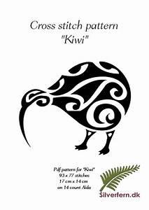 Simple yet elegant cross stich pattern of a beautiful Kiwi ...