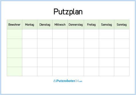 Wohnung Putzen Plan by Putzplan Vorlage 8 Putzpl 228 Ne F 252 R Paare Wgs Singles