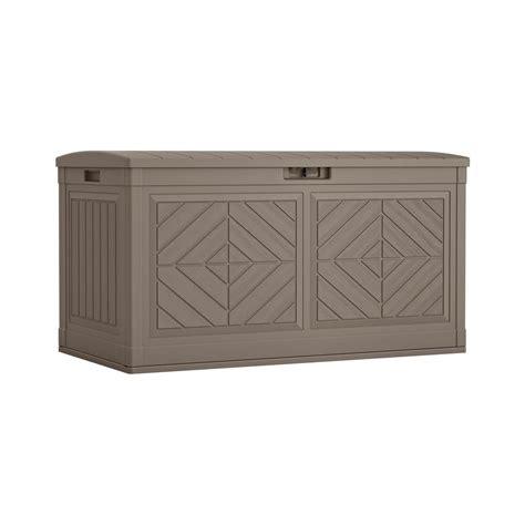 Suncast Deck Box Home Depot by Suncast 80 Gal Resin Deck Box Bmdb80 The Home Depot